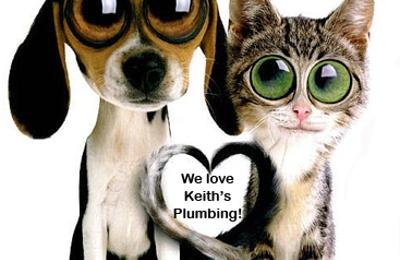 Keith's Plumbing Heating & Drain Cleaning - Merrick, NY. WE LOVE PETS