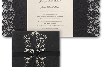 Unique Invitations By Deborah - Philadelphia, PA. Inner Beauty - Belle Disney invitation.  Very elegant.