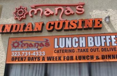 Manas Indian Restaurant 2823 S Vermont Ave Los Angeles Ca