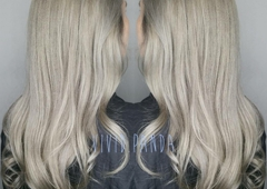 Salon Vivid - Webster, TX. Beautiful silver by Stephanie