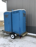 Trailer mounted for small events or mobile construction sites.