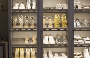 Shoe shelf at California Closets