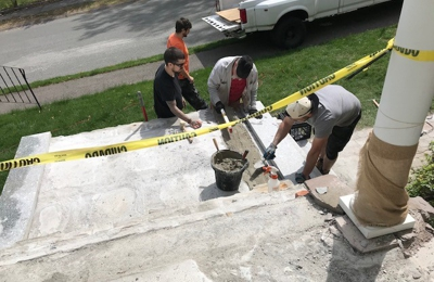 New England Masonry - Norwood, MA. Here is the picture of the father and son- James Pray. Started job, took money and disappeared