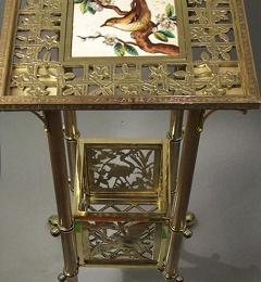 Metal Man Restoration - Mount Vernon, NY. American Aesthetic period brass table, circa 1885