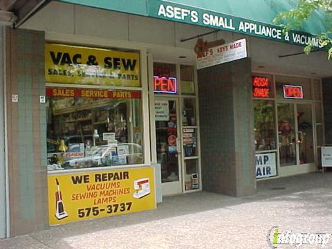 Asef S Appliance Service 709 4th St Santa Rosa Ca 95404