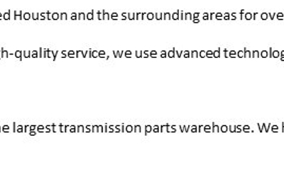 Universal Transmission & Auto Repair Westpark - Houston, TX