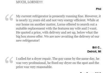 A G Appliance Repair 18210 Lahser Rd, Detroit, MI 48219 - YP com