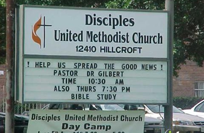 Disciples United Methodist Church 12410 Hillcroft St