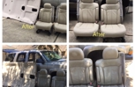 Chevy Tahoe, Headliner Replacement and New leather seats