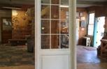 Radius arched top custom wood custom entry door unit.