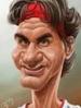 Caricature, Roger Federer
