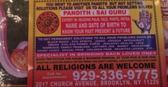 Shri Kali Matha Astrology Centre - Brooklyn, NY. ALL RELIGIONS ARE WELCOME my consultation fee $10