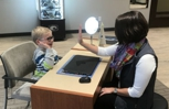 This child was so excited for his first pair of glasses!