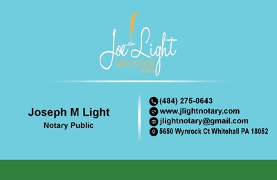 Joe Light Mobile Notarial Services - Bath, PA