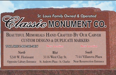 Classic Monument Co. - Saint Louis, MO