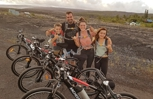 Ride an Electric Bike to see the Lava flowing into the Ocean!