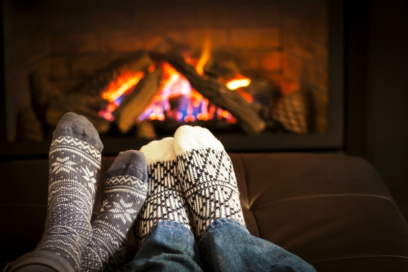 Wood burning fireplaces provide ample atmosphere.