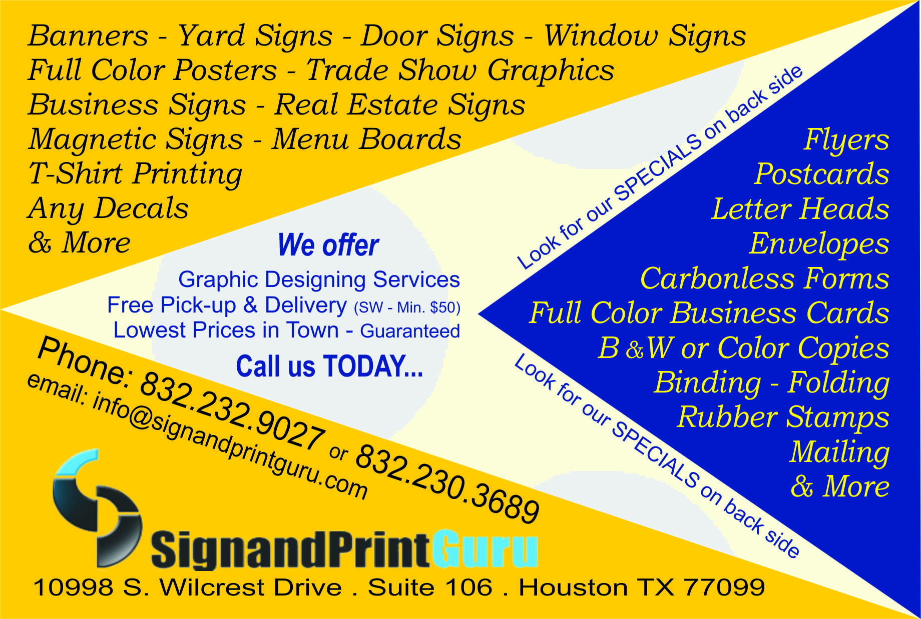 Sign and print guru 10998 s wilcrest dr ste 106 houston tx 77099 sign and print guru 10998 s wilcrest dr ste 106 houston tx 77099 yp reheart Image collections