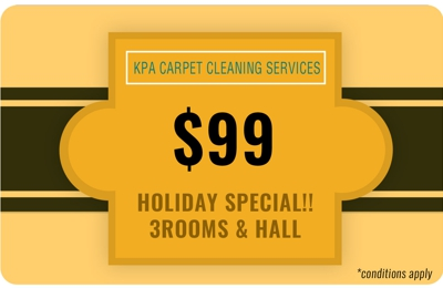 KPA Carpet Cleaning Services - Oklahoma City, OK. HOLIDAY SPECIAL!! 3 ROOMS & HALL @ $99