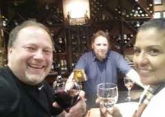 D'vine Wine Bar - Victorville, CA. Celebrating National Wine Day with Essy, Dee and owner Brian