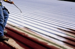 Photograph Used to Example the Process and Application of the Spray Polyurethane Foam (SPF) Insulation Roofing System