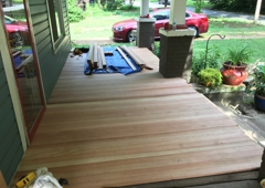 McGee Lumber - North Conway, NH. The rebuilding of an old porch in Plaza/Midwood