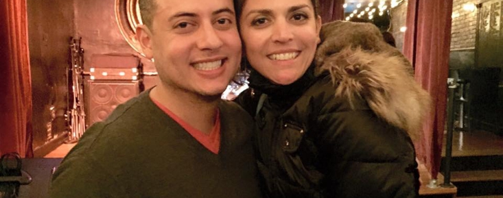 Mike GONZALEZ on set with Cecily Strong