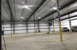 A new warehouse with energy efficient led lighting