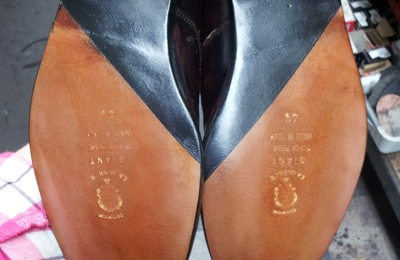 D & L's Leathercrafts & Boots - Kennewick, WA. Half leather soles and heels with top finish