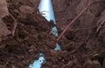 New sewer line installed