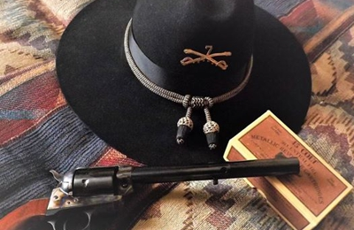 """Goods For The Woods - Durango, CO. Taylor Cattleman with 7 1/2"""" bbl in 45 Colt."""
