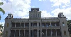 Iolani Palace - Honolulu, HI. Front side of the palace