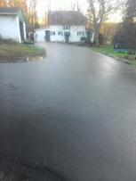 A finished driveway