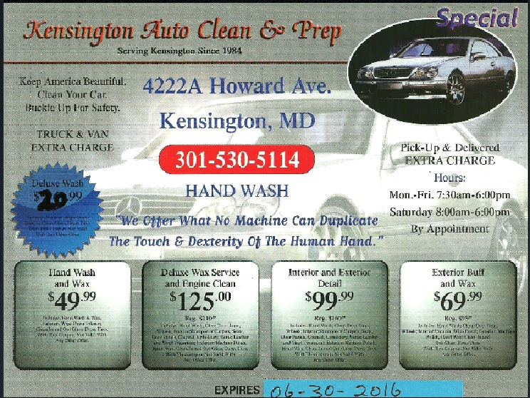 Kensington auto clean 4222 howard ave kensington md 20895 yp solutioingenieria Image collections