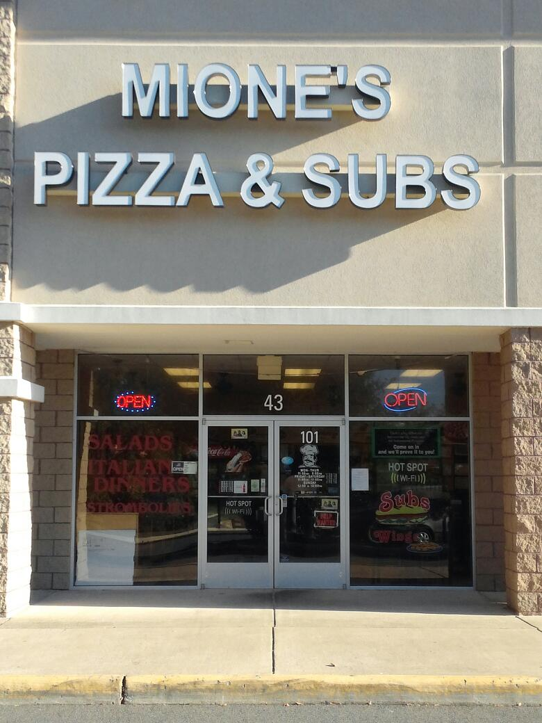 Mione's Pizza & Subs 43 Town And Country Dr Ste 101, Fredericksburg