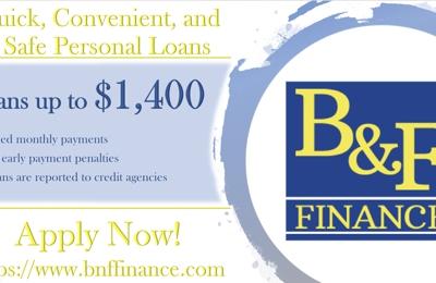 B & F Finance 502 W Calton Rd, Suite 106, Laredo, TX 78041