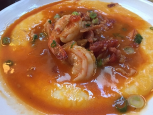 Shrimp and Grits at Brenda's French Soul Food in San Francisco