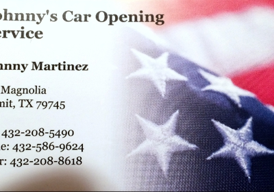 Johnny's Car Opening Service 839 Magnolia Street, Kermit, TX