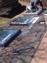 Installing 3- New Velux Deck Mounted No Leak Skylights