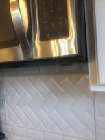 Kitchen backsplash design.