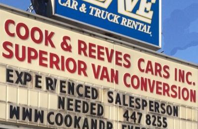 Cook Reeves Van Sales Rentals