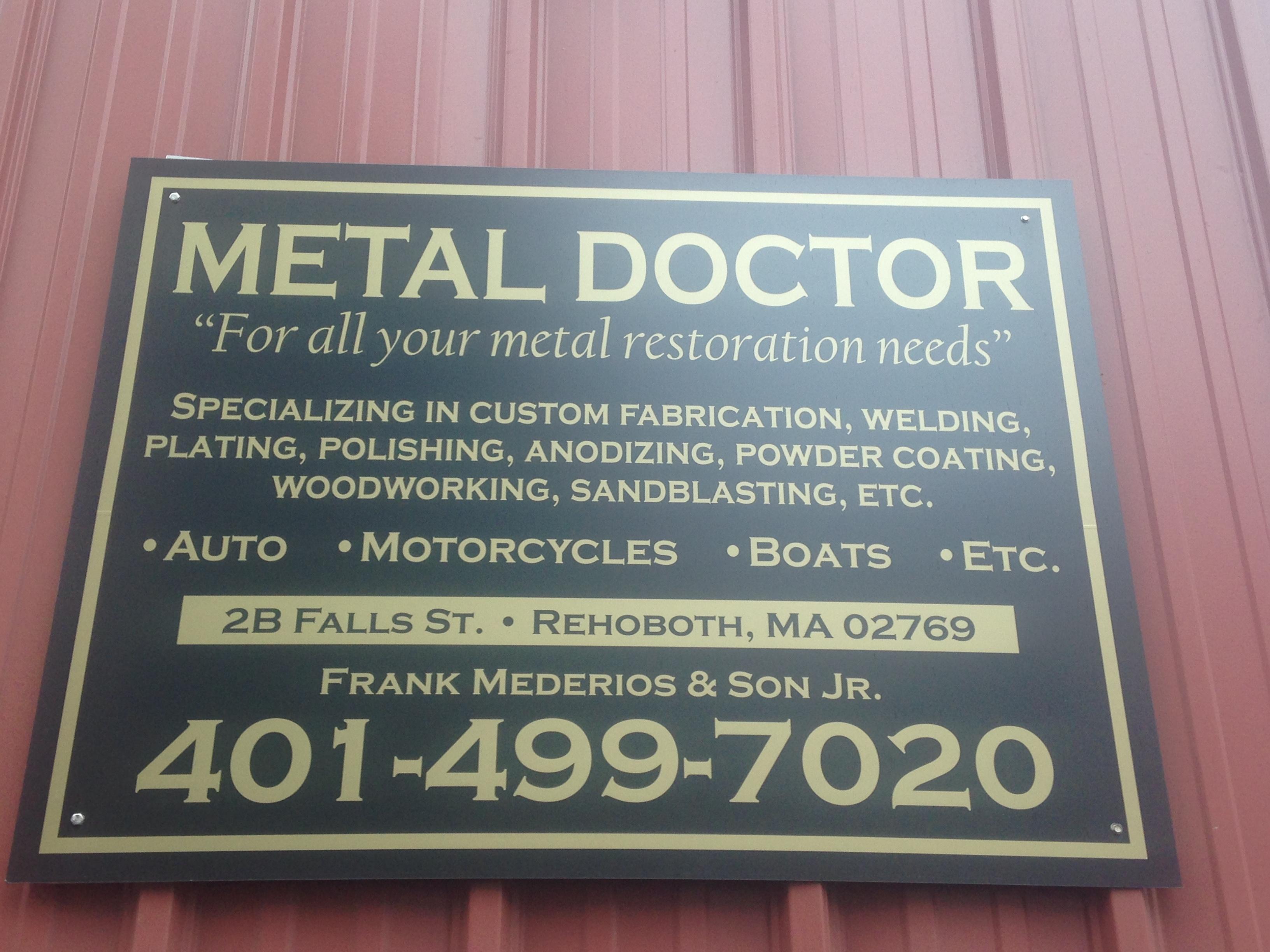 Metal Doctor 6b Falls St, Rehoboth, MA 06769 - YP.com