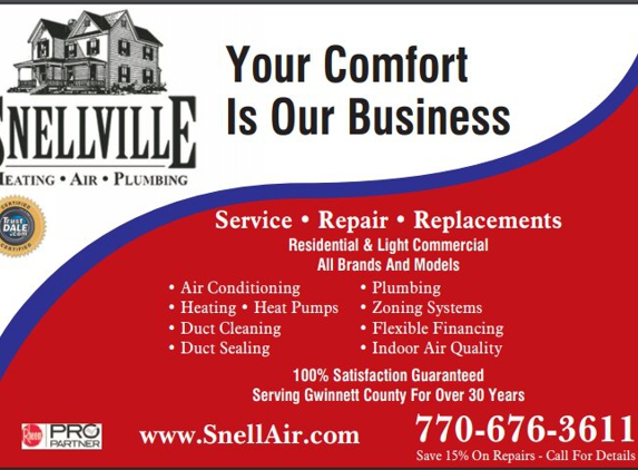 Snellville Heating, Air And Plumbing - Monroe, GA