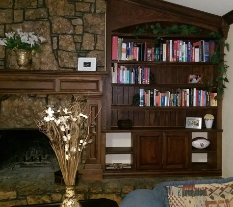 All About Construction - Choctaw, OK. After- Mantel and Bookcase.