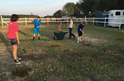 Stewartsville Baptist Church - Laurinburg, NC. This is part of the youth group performing a community service project.