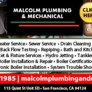 Malcolm Plumbing & Mechanical Co. - San Francisco, CA