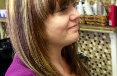 Sonya 4 Shear- Pure Elements - Rio Rancho, NM. Color blocking
