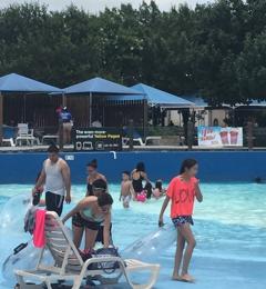 Splashtown - San Antonio, TX. Wave pool fun!