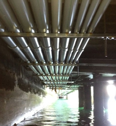 Gomez Electric Inc. - Lynwood, CA. Work being done under the pier