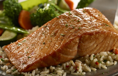 LongHorn Steakhouse. Fresh Atlantic salmon, hand-cut daily, expertly grilled and glazed with our housemade bourbon brown sugar marinade.